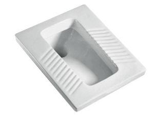 Bathroom Design Wc Pan Quality White Ceramic Squat Toilet Pan pictures & photos