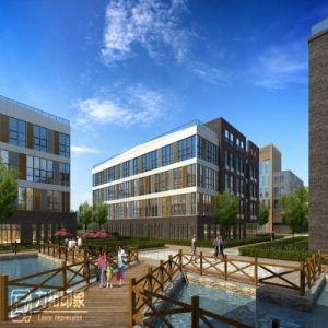 Large Scale Industrial Park Design Plan 3D Rendering