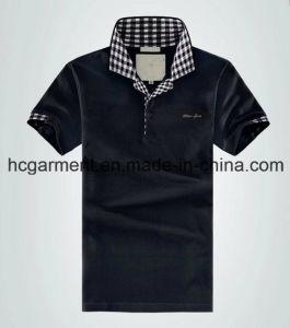 Men′s T-Shirt, Cotton Black Color Polo for Man pictures & photos