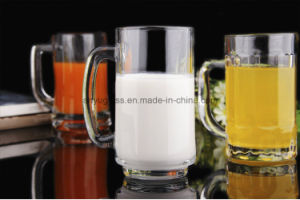 New Design Lead Free Glass Beer Mug Juice Mug with Handle pictures & photos