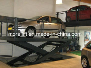 underground parking scissor car lift pictures & photos
