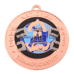 Custom Copper Plated Weight Lifting Sport Medallion pictures & photos