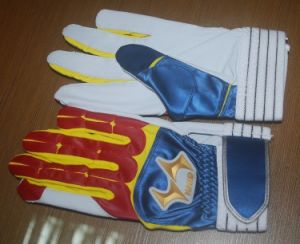 Baseball Glove/ Sheep Leather Baseball Batting Glove pictures & photos