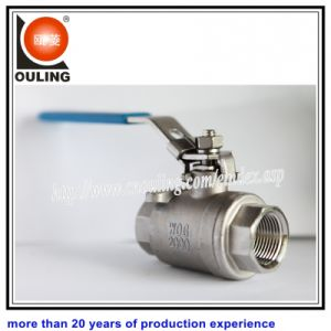 Stainless Steel Two Piece Screwed Ball Valve with Floating Ball