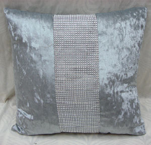 Fashion Ice Velvet Rhineston Cushion (DIV02-002) pictures & photos