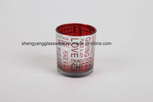 Hot Sell Christmas Day Glass Cup Candleholder pictures & photos