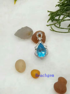 Jewelry-Topaz Sterling Silver Pendant (P908916) pictures & photos