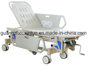 Hand Lift Emergency Hospital Trolley Aluminum Alloy Emergency Bed pictures & photos