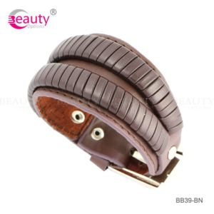 New Design Snake -Shaped PU Leather Bracelet for Men