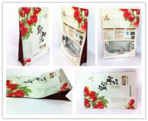 High-Grade Plastic Flat Bottom Zipper Food Packaging Bag pictures & photos