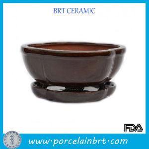Brown Glazed Ceramic Bonsai Pots pictures & photos