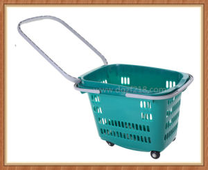 30L Colored Customized Trolley Plastic Supermarket Cart for Shopping pictures & photos
