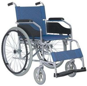 Aluminum Folding Wheelchair with Fixed Armrest and Fixed Footrest pictures & photos