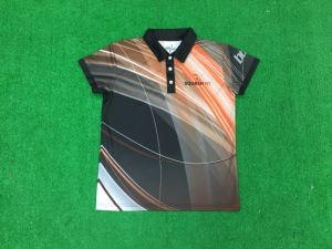 Customized 100% Polyester Polo Men Shirts pictures & photos