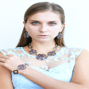 New Design Colorful Stones Fashion Jewellery Necklace Earring Bracelet