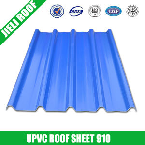 Plastic Corrugated PVC Roof Sheet Trapezoidal 910 pictures & photos