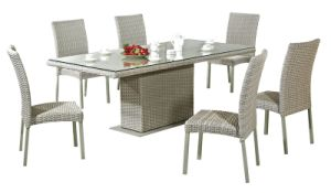 Outdoor Dining Table Set Rattan Chairs Garden Furniture pictures & photos