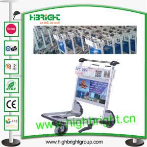 High Quality Hand Brake Airport Luggage Trolley pictures & photos