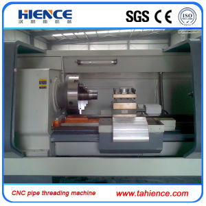 China Horizontal Pipe Threading CNC Lathe Machine Cqk220 pictures & photos