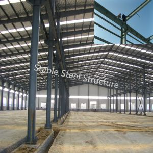 Prefab Large Span Steel Structure Workshop in Namibia pictures & photos