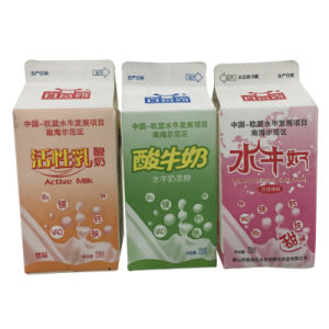 Mini 250ml Fresh Milk Gable Top Carton pictures & photos