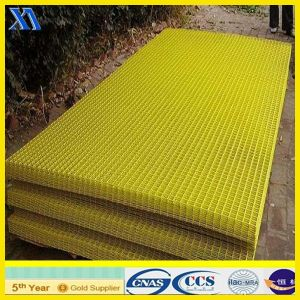 Yellow Plastic Coated Welded Wire Mesh Panel (XA-WP7) pictures & photos