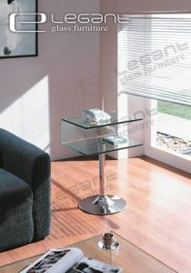 Telephone Shelf - End Table with Curve Glass -S014 pictures & photos
