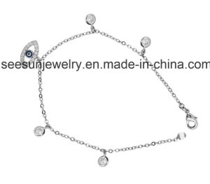 CZ Crystal Evil Eye Bracelet in 925 Sterling Silver Jewelry pictures & photos