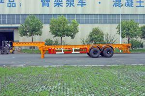 20/30ft Gooseneck Container Trailer Chassistwo Axles (HZZ9341TJZ) pictures & photos