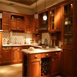 Classical Red Cherry 2015 New Design Kitchen Furniture pictures & photos