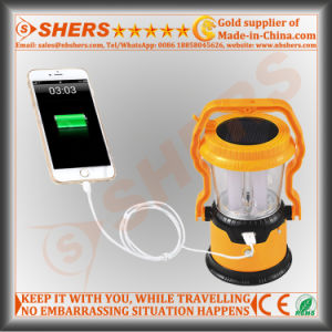 Portable Solar LED Light for Camping with 1W Flashlight (SH-1972) pictures & photos