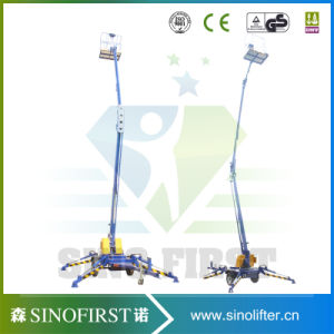 10m 200kg Aerial Spider Towable Trailed One Man Lifts pictures & photos