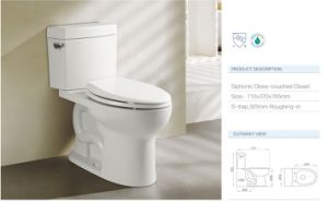 Cupc Sanitary Ware Siphonic Toilet CE-T2602m pictures & photos