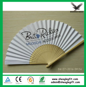 The Best-Seller Bamboo Paper Promotion Fan for Advertising pictures & photos