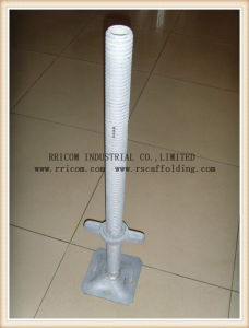 Galvanized /Zinc Plated Scaffolding Hollow Type Adjustable Screw Jack pictures & photos