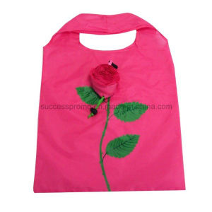 Rose Shaped Foldable Shopping Bag, Customized Design and Size Are Accepted pictures & photos