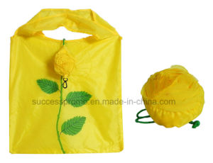 Rose Shaped Polyester Foldable Shopping Bag pictures & photos