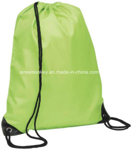 Promotional 210d Polyester Custom Drawstring Bag pictures & photos