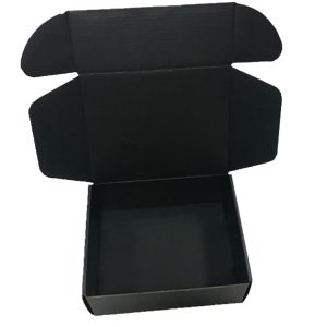 Black Matt Finished Corrugated Box with Logo Gold Foil Stamp pictures & photos