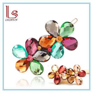 Fashion Hair Jewellery Hair Clip Headdress Flower Austria Diamond Gift Hair Ornament Hairpin pictures & photos