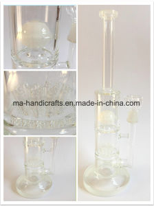 14 Inch Glass Smoking Water Pipes with Triple Percs pictures & photos