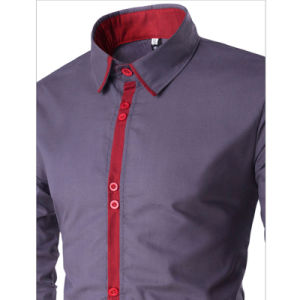 Hot Sale Mens Cotton Casual Long Sleeve Dress Shirt (A439) pictures & photos