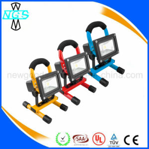 Rechargeable IP65 Outdoor 10W Battery Portable LED Flood Work Light pictures & photos