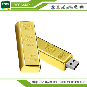 Free Sample OEM 8GB Golden USB Flash Drive pictures & photos