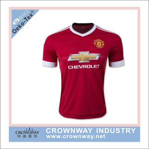 Official Club Team Red Football Jersey for Men pictures & photos