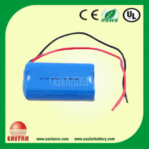 18650 2s1p 7.4V Li-ion Battery Pack 2200mAh for Electric Bicycles pictures & photos