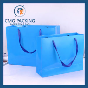 Customized Printed Paper Hand Bag with Handle (DM-GPBB-126) pictures & photos