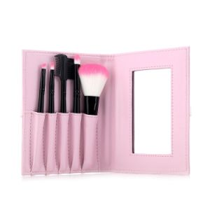 5PCS Nylon Hair Cosmetic Makeup Beauty Brush Set with Mirror pictures & photos