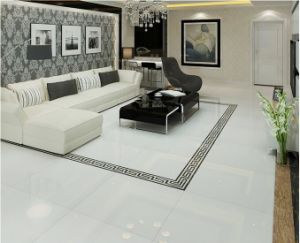 Building Material Double Charge Super White Vitrified Porcelain Floor Tile (600*600 800*800) pictures & photos