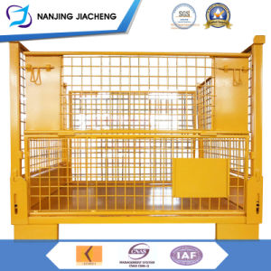 Stackable and Folable Heavy Duty Powder Coating Mesh Container pictures & photos